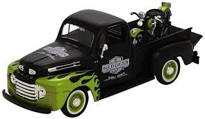 Maisto 1:24 Scale 1948 Ford F-1 Pickup and Harley ... - Amazon.com