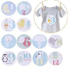 <b>12Pcs</b>/<b>Set</b> Personalized <b>Baby</b> Monthly Photograph Stickers DIY ...