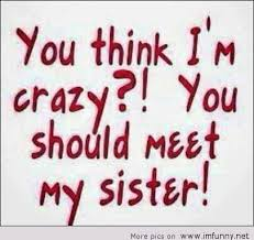 Funny Sister Quotes. QuotesGram via Relatably.com
