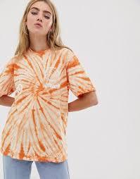 Оранжевая <b>футболка с принтом</b> тай-дай Converse | ASOS | Тай ...