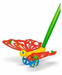 Купить <b>Каталка</b>-игрушка <b>Stellar</b> Бабочка (01363) красный ...