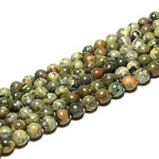 <b>Wholesale</b> Round <b>Green</b> old KAMBABA <b>Natural Stone</b> Beads For ...