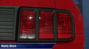 Mustang MMD Tail Light <b>Trim</b> - Pre-Painted <b>Matte</b> Black and <b>Chrome</b> ...