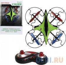 Квадрокоптер на радиоуправлении <b>1toy GYRO</b>-<b>Cross</b> зелёный от ...