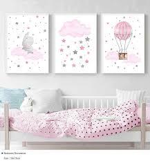 <b>Children Poster</b> Cloud Balloon Baby Nursery Wall Art Canvas Print ...
