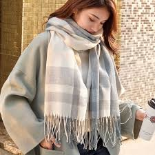 VEITHDIA 2020 New Autumn Winter <b>Female Wool Plaid Scarf</b> ...