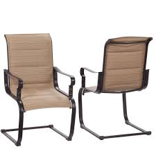 comfortable patio chairs aluminum chair: belleville rocking padded sling outdoor dining chairs  pack