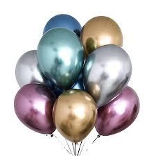 <b>12pcs</b> 3.2g Metallic Balloons <b>mix Latex</b> Wedding glossy metal ...