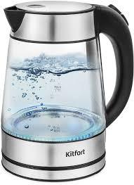 Купить <b>Чайник электрический KITFORT</b> КТ-6105, нержавеющая ...