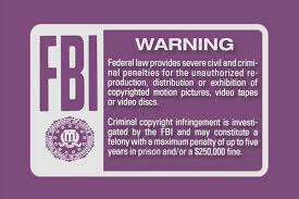 Image result for fbi copyright warning popup