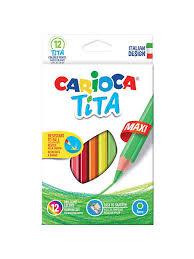 Набор <b>карандашей цветных CARIOCA</b> TITA MAXI, пластик., 12 цв ...