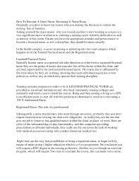 essay why i want to be a nurse why become a nurse essay  valiant resume its a kind of magic how become a