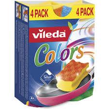 <b>Губка VILEDA Pure Colors</b> (Пур Колорс) для посуды высокий ...