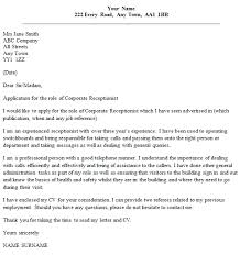 Example Of Cover Letter Receptionist   Sample Customer Service Resume JFC CZ as