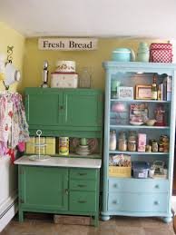 green kitchen cabinets couchableco:   colorful vintage kitchen storage ideas
