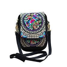<b>Women</b> Rose Embroidered Crossbody <b>Bags Mini</b> - Dxlta Vintage ...