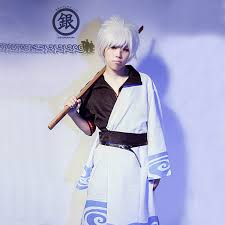 JP <b>Anime Gintama Cosplay Costume</b> Halloween Dress Adults ...