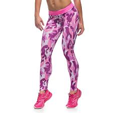 Women 's <b>Two Color Camouflage</b> Printed Yoga Pants Europe and ...