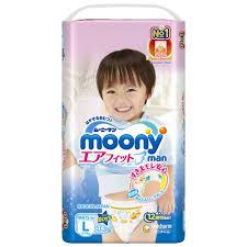 <b>Moony Трусики Man для</b> мальчиков L 9-14 кг / 44 шт купить в ...