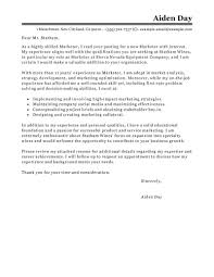 best marketer cover letter examples livecareer edit