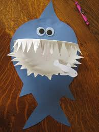 almost unschoolers paper plate shark craft e glued the pieces together for us and d added a few final touches