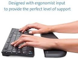 <b>Kensington ErgoSoft</b> Wrist Rest for Slim, Compact Keyboards, Black ...