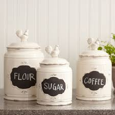 Green Kitchen Canister Set Kitchen Kitchen Canister Set With Tea Coffee Sugar Jars Lace