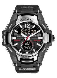 Shop <b>SMAEL Men's</b> Luminous <b>Double</b> Display Waterproof Watch ...
