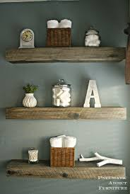 country themed reclaimed wood bathroom storage: stain the same color as the vanity and put over the toilet in the cubby area create a faux weathered barnwood look for less with this inexpensive