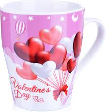 "<b>Кружка Loraine</b> ""<b>Любовь</b>"", цвет: белый, красный, розовый, <b>340</b> мл ..."