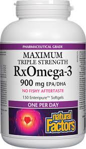 <b>Natural Factors</b> Maximum Triple Strength <b>RxOMEGA-3</b> - With Free ...