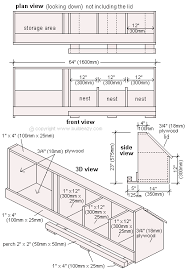 Build a chicken coop   nesting boxes and storage area planschicken coop nesting box plans