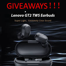 Gearbest - GIVEAWAYS! <b>Lenovo GT2 TWS Mini</b> Bluetooth 5.0 ...
