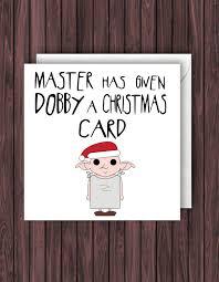 dobby xmas harry potter christmas card geek blank card 🔎zoom