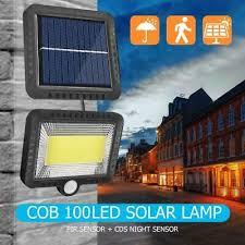 500LM <b>LED Solar</b> Power <b>Light Motion Sensor</b> Wall Lamp Courtyard ...