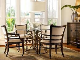 dining table with wheels: tiny furniture dark brown rustic round dining room tables bined