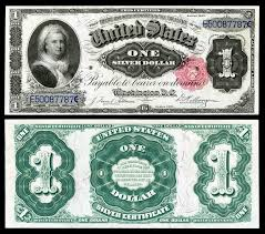 martha washington 1 silver certificate issue 1886
