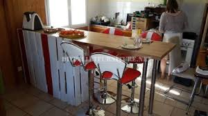 kitchen with breakfast bar built using pallets breakfast bars furniture