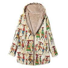 Women Vintage Outwear, <b>2019</b> Fashion Ladies <b>Plus Size Printed</b> ...