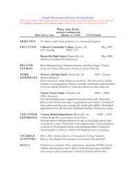 resume for student nurse  template student nurse resume objective