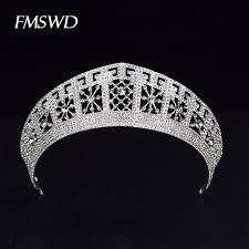<b>luxury</b> Trendy Gold Silver Color <b>Big</b> Tiaras For Bride <b>Crystal</b> ...