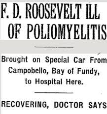 「1921 Franklin Delano Roosevelt polio」の画像検索結果