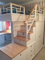 york bedroom set stair loft bed with stairs drawers closet shelves and desk