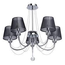 MW-Light 684010305 Ceiling <b>Chandelier Chrome Metal</b> Black ...