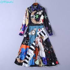 <b>QYFCIOUFU</b> Autumn Fashion Women Runway Dress Designers ...