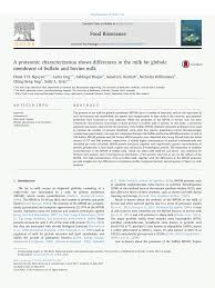 (PDF) A proteomic characterization shows differences in the milk fat ...