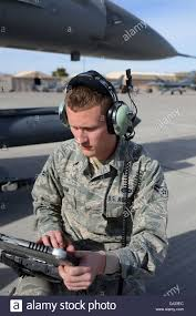 u s air force airman st class christopher ransom an avionics stock photo u s air force airman 1st class christopher ransom an avionics technician the 169th aircraft maintenance squadron at mcent