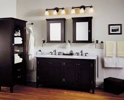 stunning bathroom vanity lighting over black vanity cabinet with white countertop and with double mirror with black vanity lighting