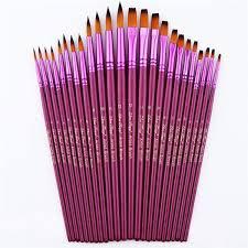 <b>12 Pcs</b> Artist Paint Brushes Fine Paint Brush for <b>Acrylic</b> Watercolor ...
