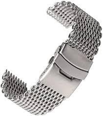 YWSZY Silver <b>18mm</b>/<b>20mm</b>/<b>22mm</b>/24mm Stainless Steel <b>Milanese</b> ...